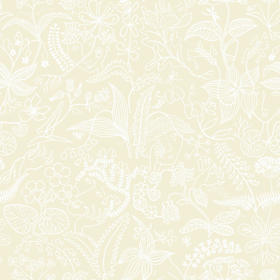 Brewster Wallcovering Wall Vision 57-sq ft Beige Non-Woven Floral  Wallpaper