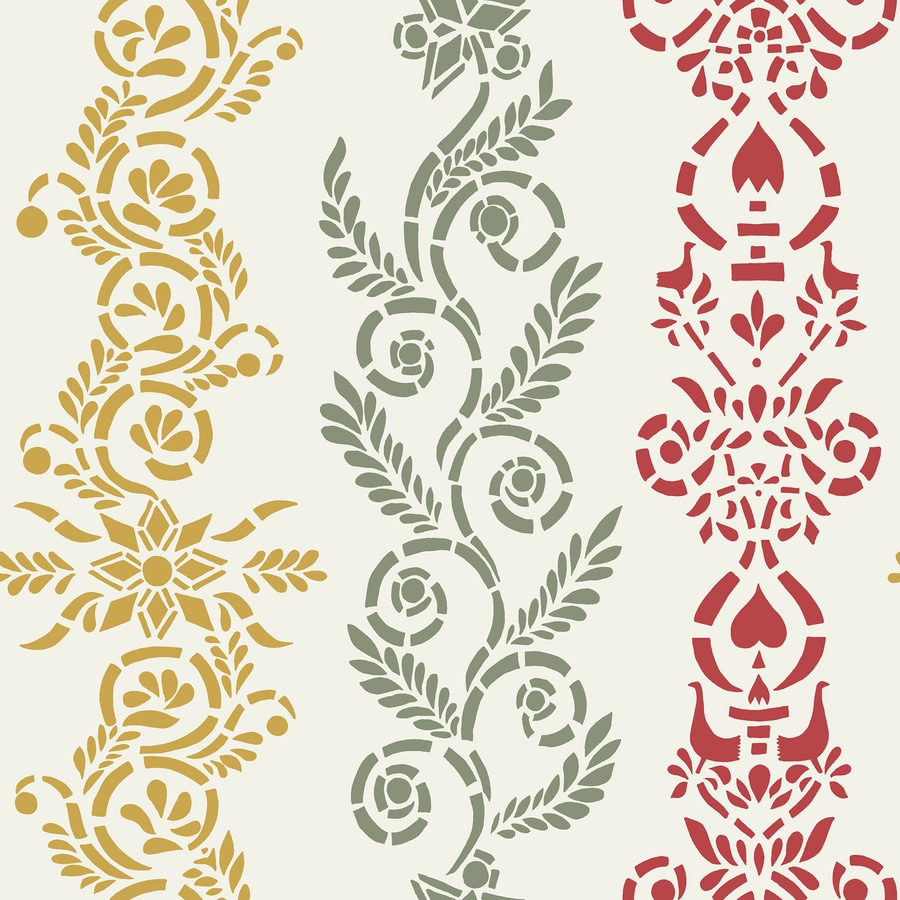 Brewster Wallcovering Wall Vision White Non-Woven Stripes Wallpaper