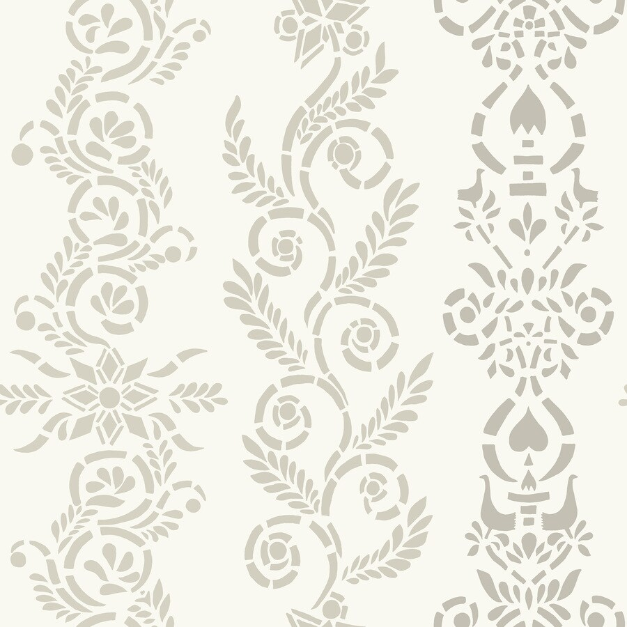 Brewster Wallcovering Wall Vision Grey Non-Woven Stripes Wallpaper
