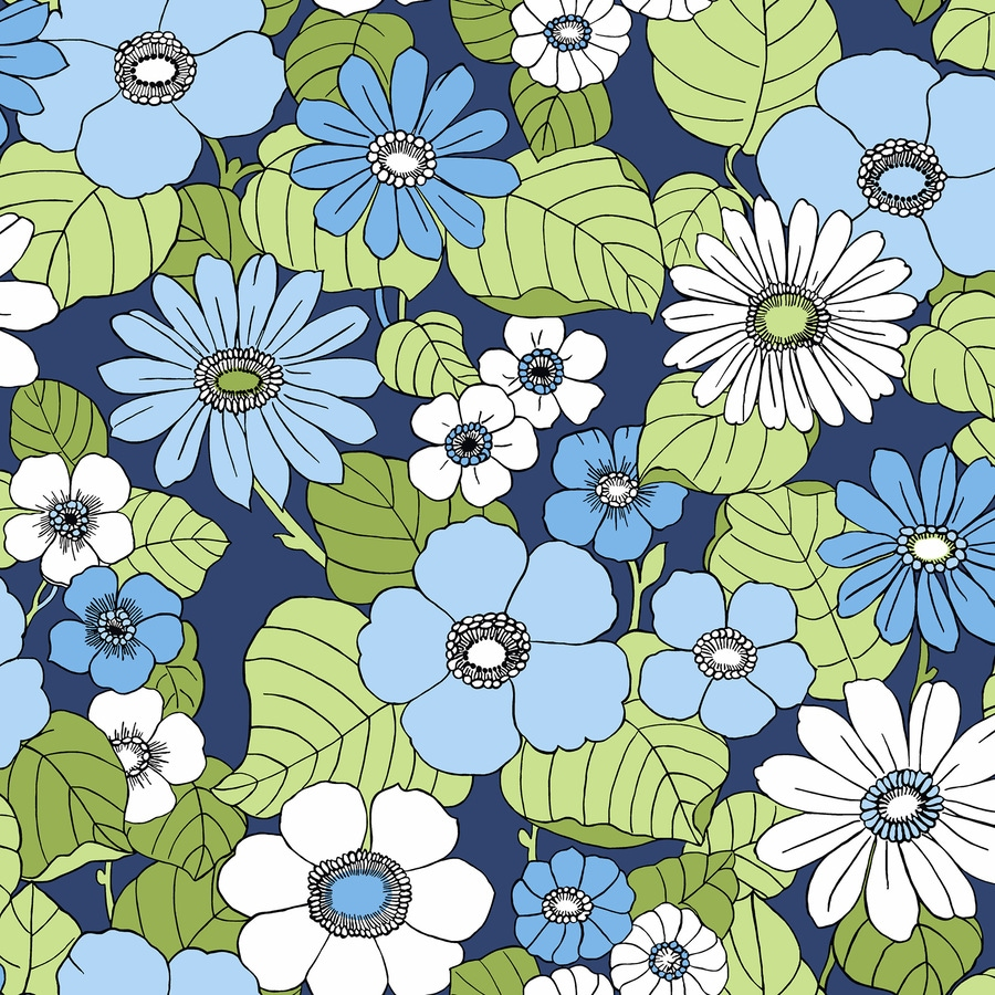 Brewster Wallcovering Wall Vision Blue Non-Woven Ivy/Vines Wallpaper