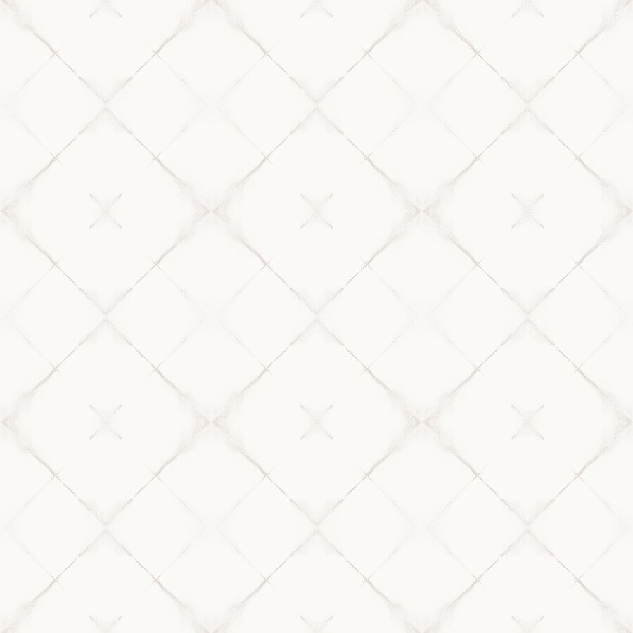 Brewster Wallcovering Wall Vision White Non-Woven Geometric Wallpaper