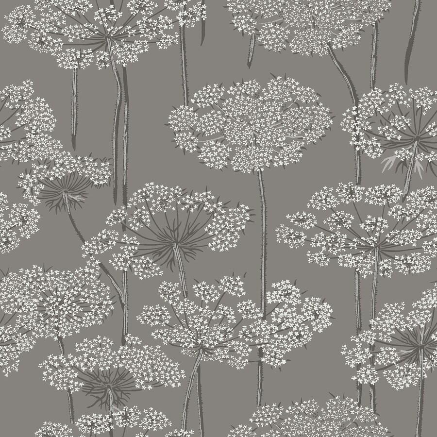 Brewster Wallcovering Wall Vision Navy Non-Woven Floral Wallpaper