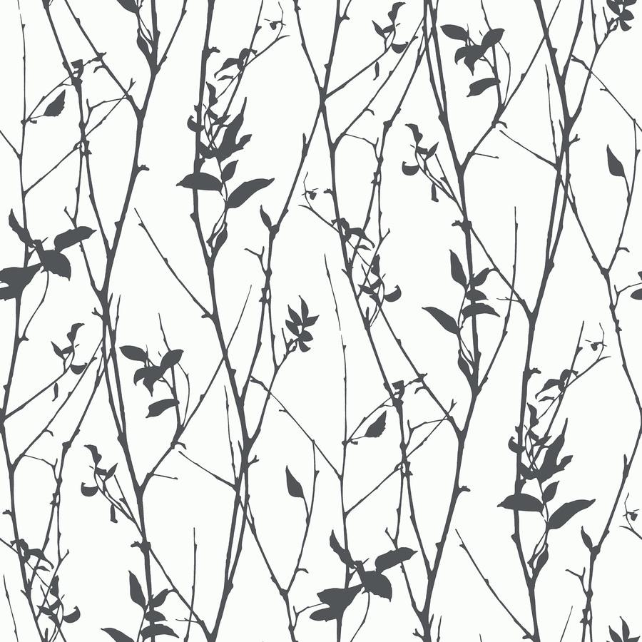 Brewster Wallcovering Wall Vision Black Non-Woven Plaid Wallpaper
