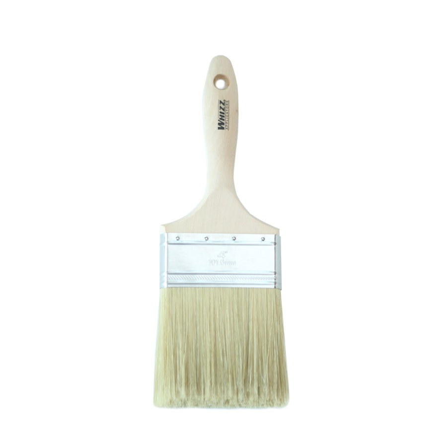 WHIZZ Natural Bristle - Polyester Blend Varnish Paint Brush (Common: 4-in; Actual: 3.901-in)
