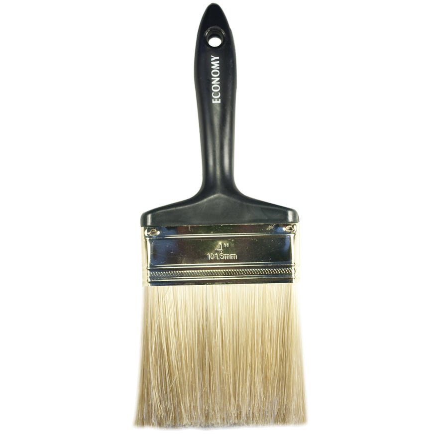 Project Source Natural Bristle Polyester Blend Wall Paint Brush (Common: 4-in; Actual: 4.038-in)