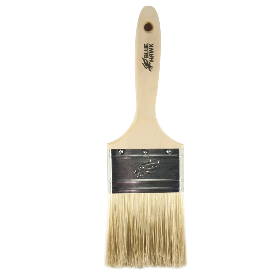 Blue Hawk Natural Bristle Polyester Blend Wall Paint Brush (Common: 3-in; Actual: 3.017-in)