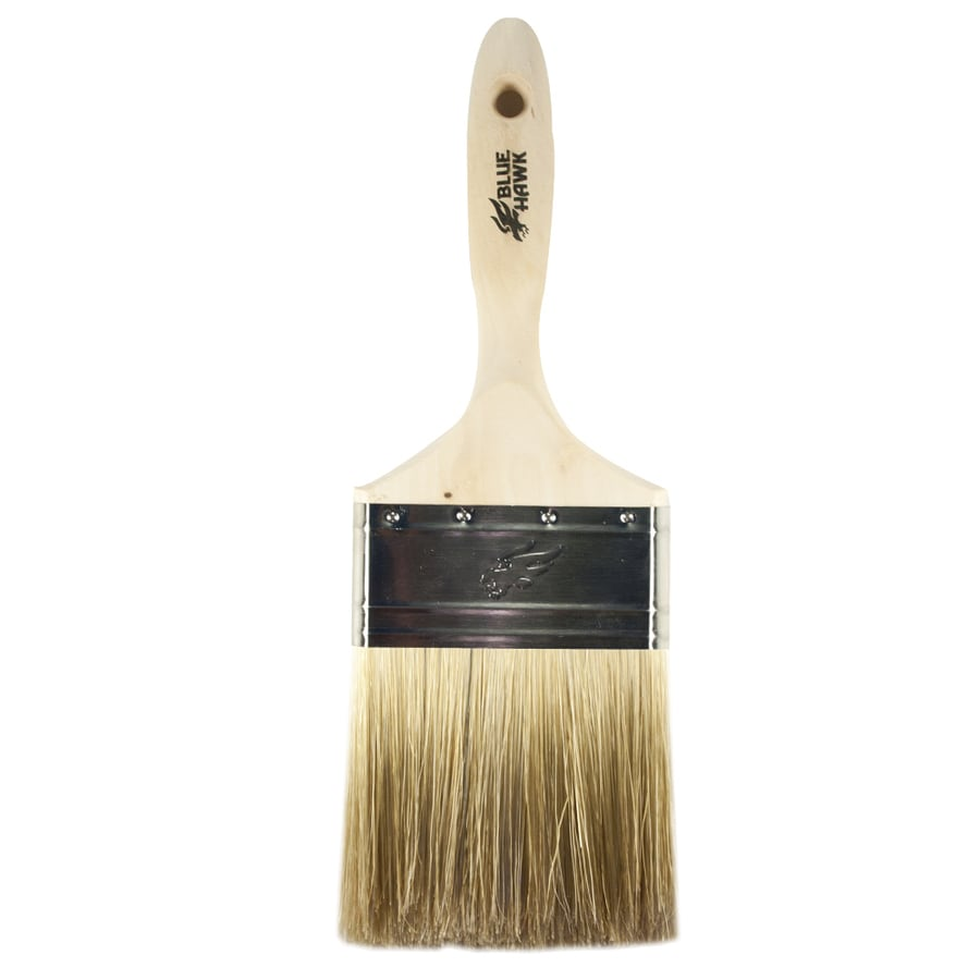 Wall Design Paint Brush : Blue hawk natural bristle polyester blend wall