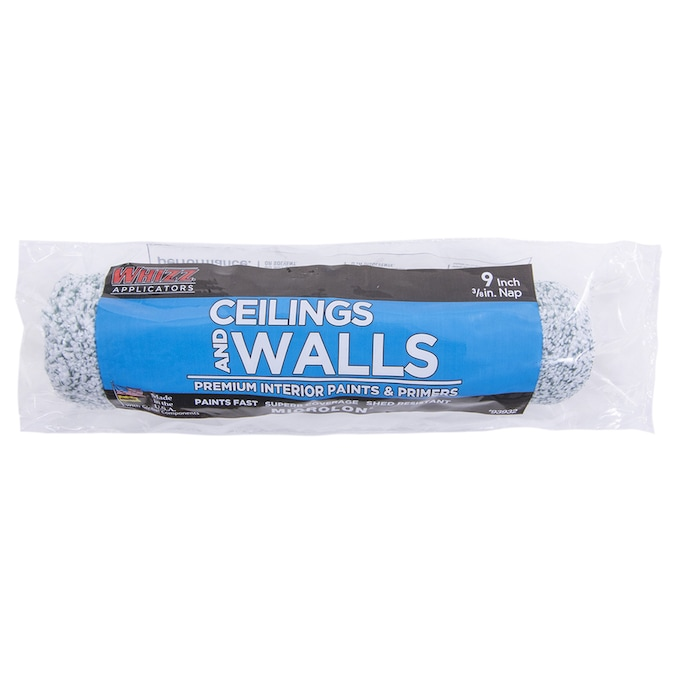 Whizz Microlon Ceilings And Walls 9 In X 3 8 In Woven Synthetic Blend Paint Roller Cover In The Paint Roller Covers Department At Lowes Com