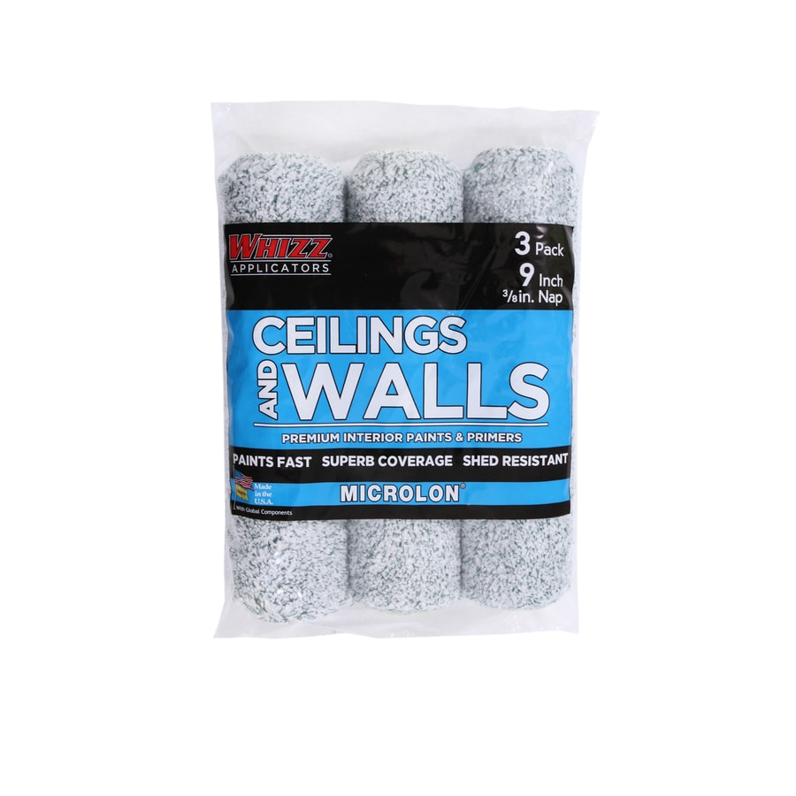 WHIZZ MICROLON Walls and Ceilings 3-Pack 9-in Standard Microfiber Blend Paint Roller Cover