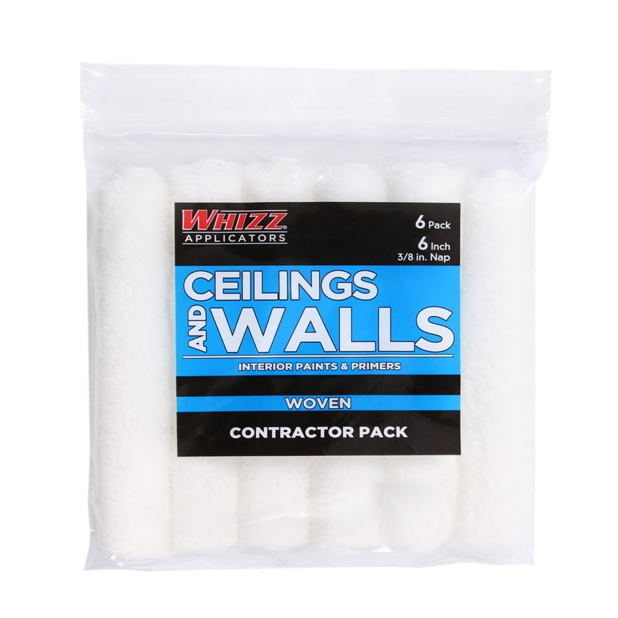 WHIZZ 6-Pack 6-in Mini Synthetic Blend Paint Roller Covers