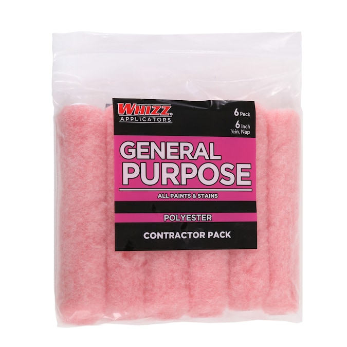 Whizz General Purpose 6 Pack 6 In X 1 2 In Mini Polyester Paint Roller Cover In The Paint Roller Covers Department At Lowes Com