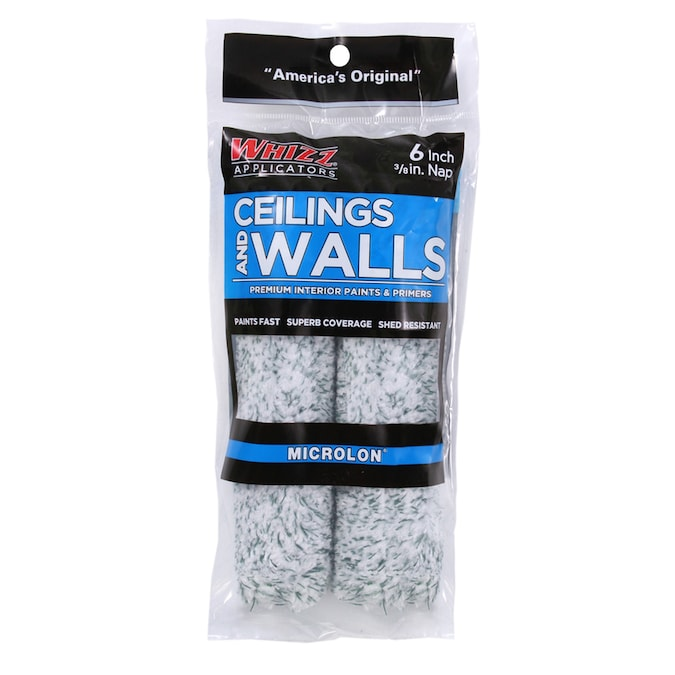 Whizz Microlon Ceilings And Walls 2 Pack 6 In X 3 8 In Mini Woven Synthetic Blend Paint Roller Cover In The Paint Roller Covers Department At Lowes Com