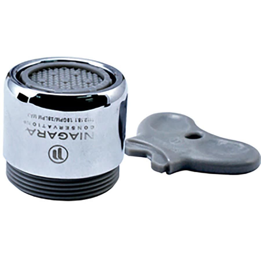Niagara Conservation 15/16-in x 27-in Male or 55/64-in x 27-in Female Chrome Water Saving Aerator