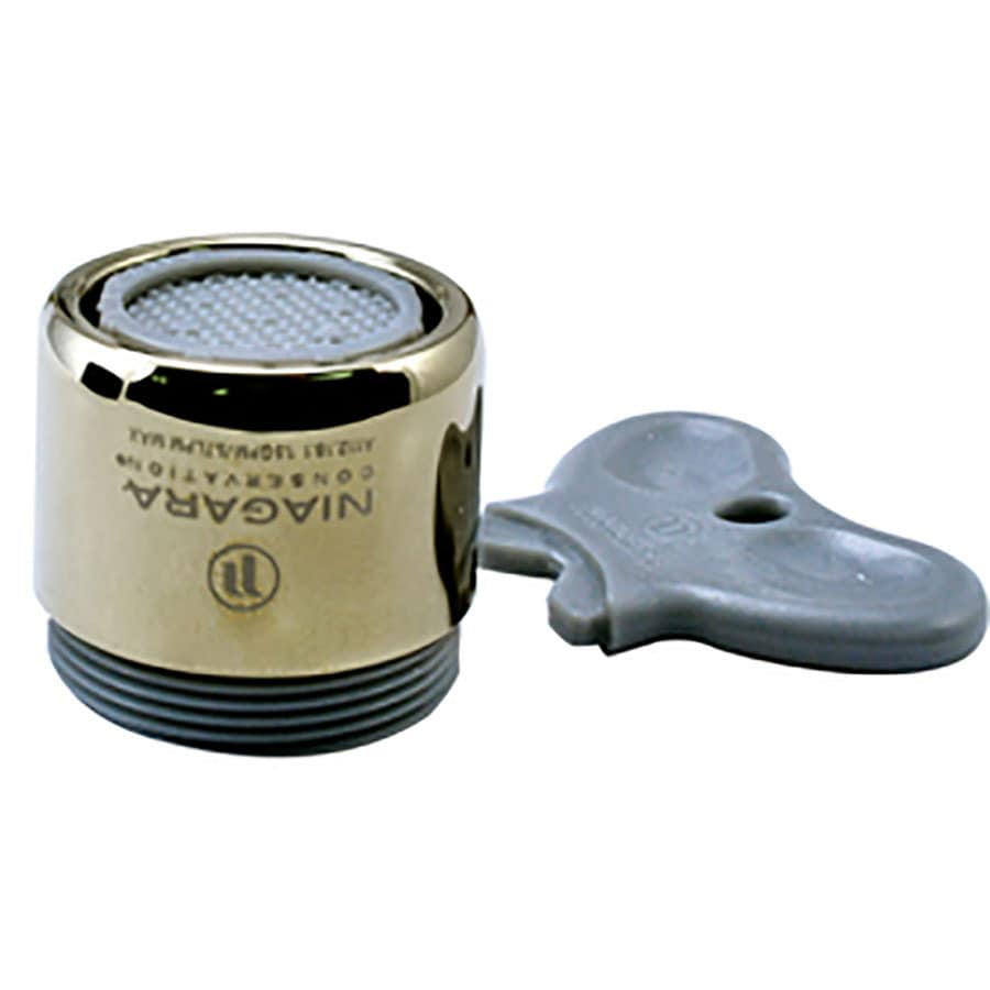 Niagara Conservation 15/16-in x 27 or 55/64-in x 27 Brass Water-Saving Aerator