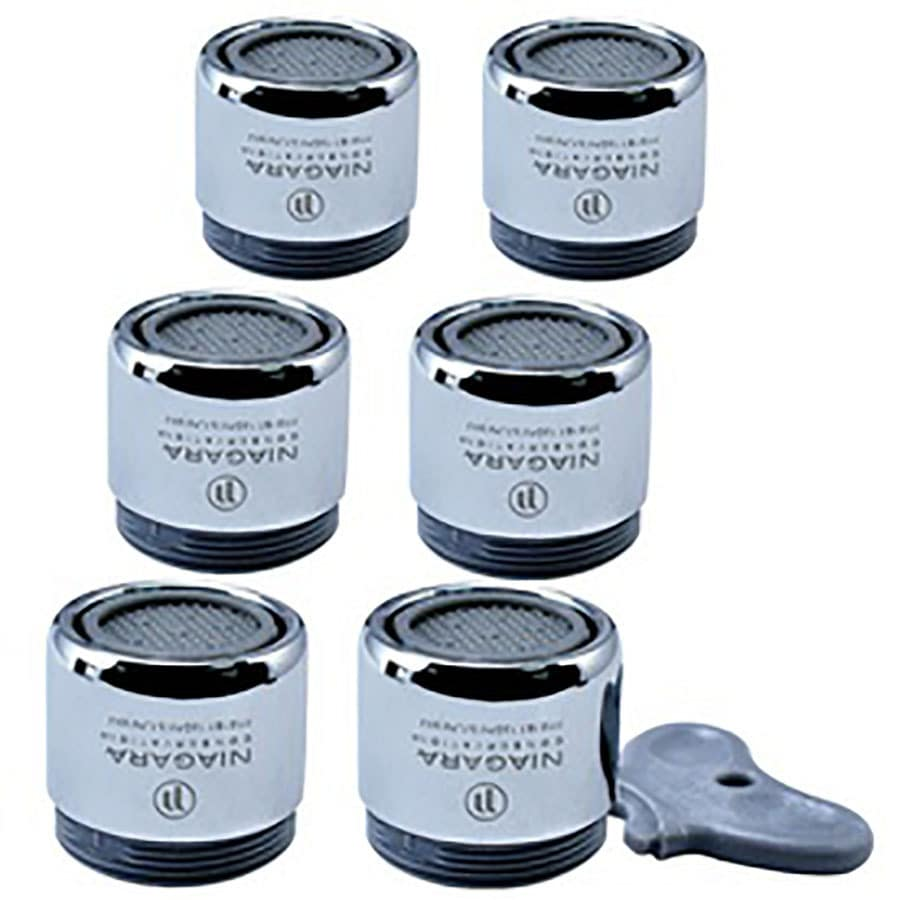 Niagara Conservation 6-Pack 15/16-in x 27-in Male or 55/64-in x 27-in Female Chrome Water Saving Aerator