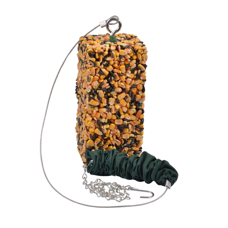 Garden Treasures Birdola Green Steel Bungee Squirrel Feeder