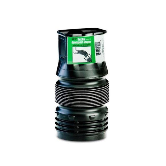 Flex Drain 4 In X 3 In And 4 In 45 Degree Corrugated Downspout Adapter Fittings In The Corrugated Drainage Pipe Fittings Department At Lowes Com