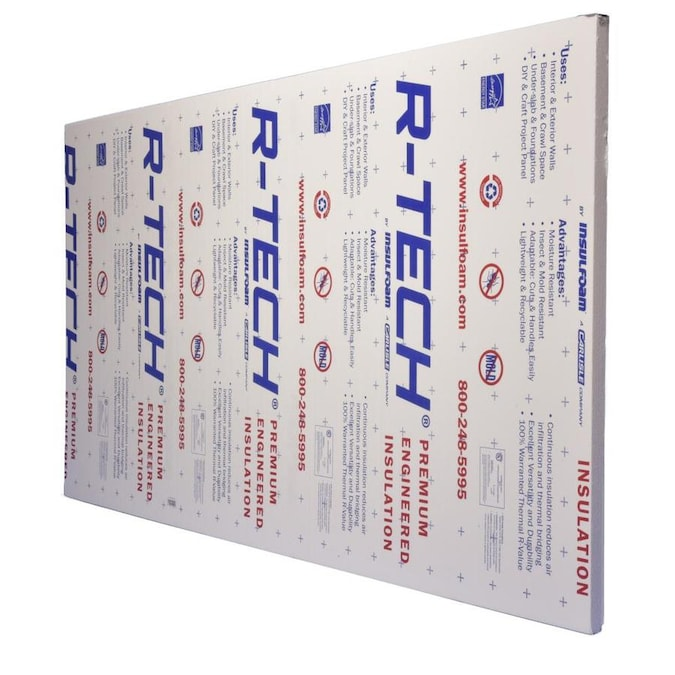 Insulfoam R 7 7 Common 2 In X 2 Ft X 4 Ft Actual 2 In X 2 Ft X 4 Ft 1 Faced Polystyrene Garage Door Foam Board Insulation In The Foam Board Insulation Department At Lowes Com