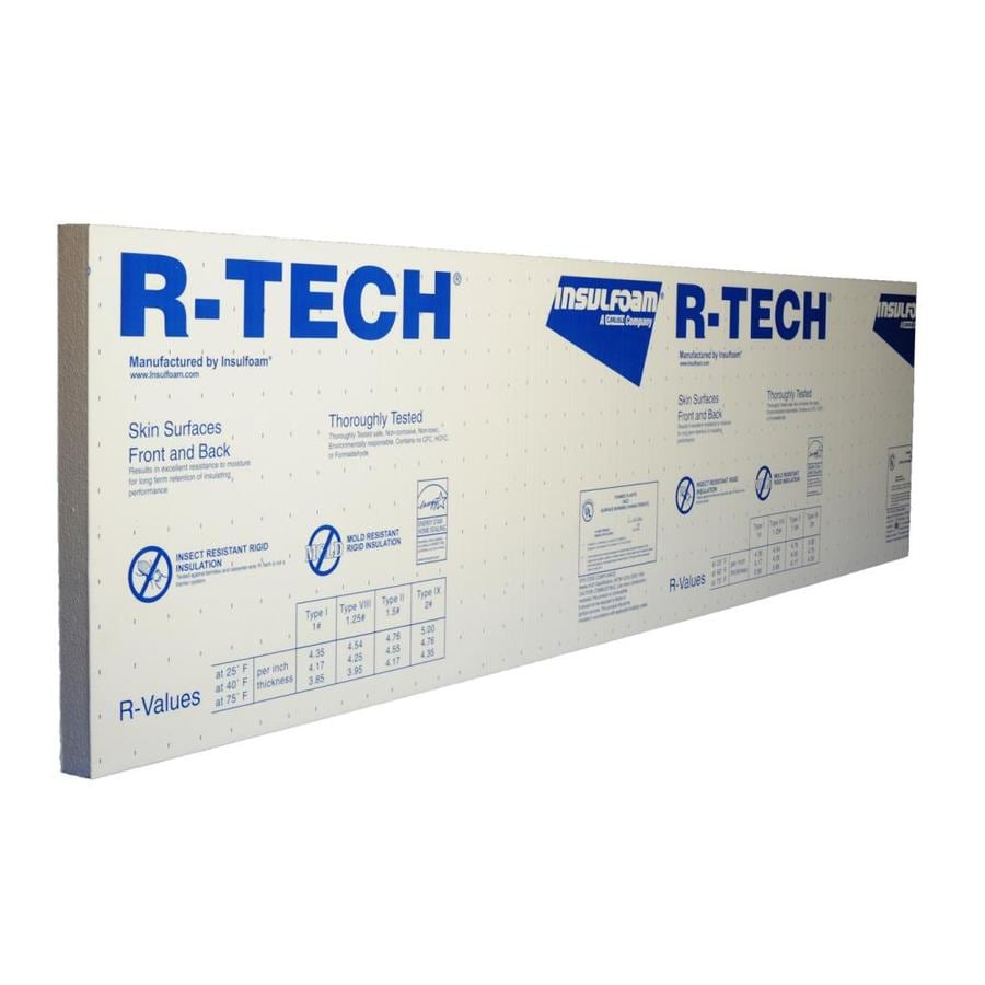 Insulfoam Expanded Polystyrene Foam Board Insulation (Common: 2-in x 4-ft x 8-ft; Actual: 2-in x 4-ft x 8-ft)