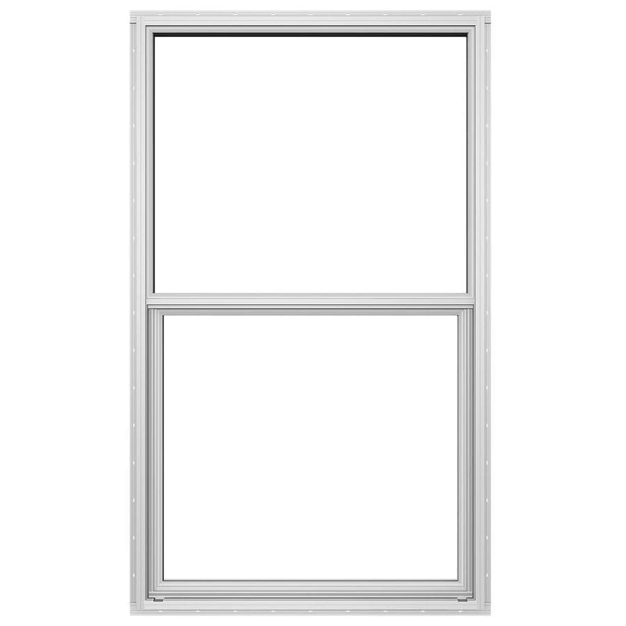 JELD-WEN 4100 Series Aluminum Single Pane Double Strength Replacement Single Hung Window (Rough Opening: 36.5-in x 62.25-in; Actual: 36-in x 62-in)