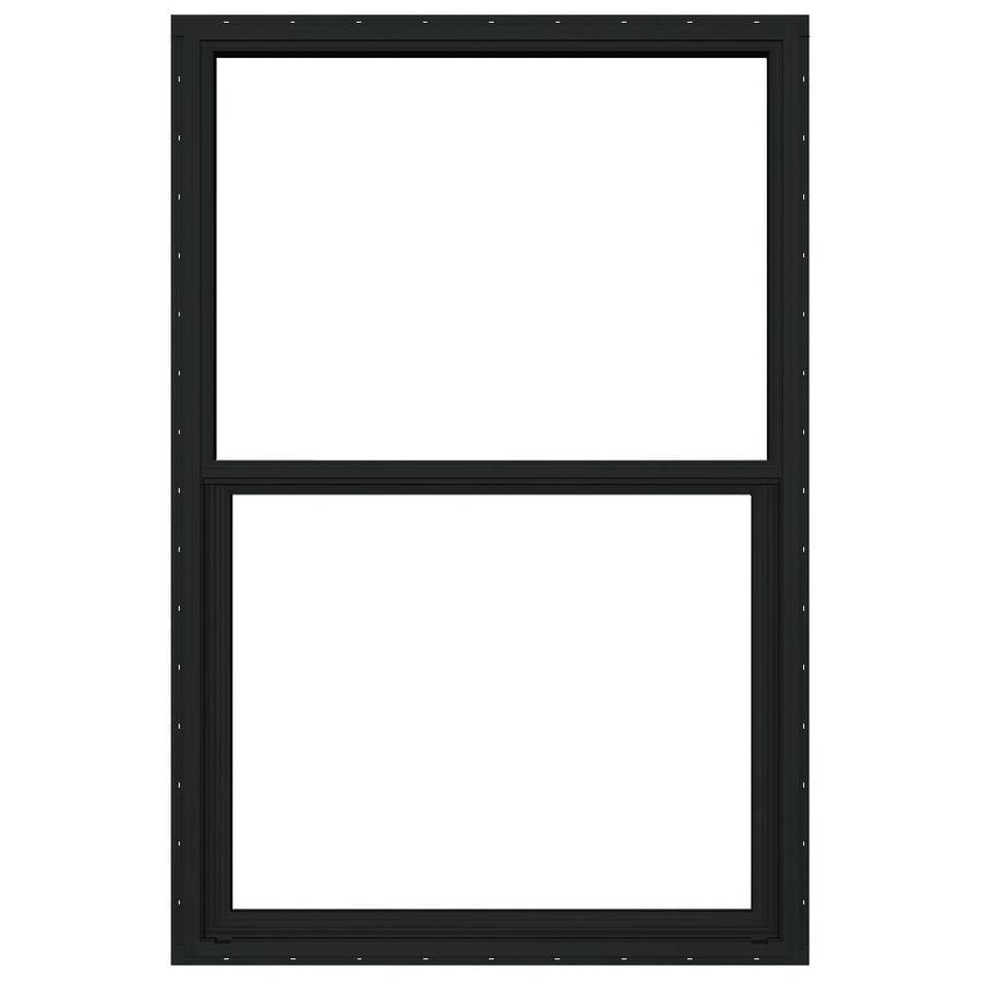 JELD-WEN 4100 Aluminum Single Pane Double Strength Replacement Single Hung Window (Rough Opening: 26-in x 37.625-in; Actual: 25.5-in x 37.375-in)