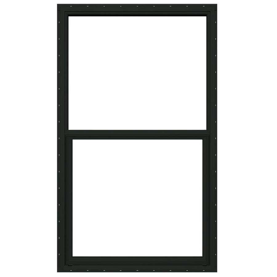 JELD-WEN 4100 Aluminum Single Pane Double Strength Replacement Single Hung Window (Rough Opening: 36.5-in x 62.25-in; Actual: 36-in x 62-in)