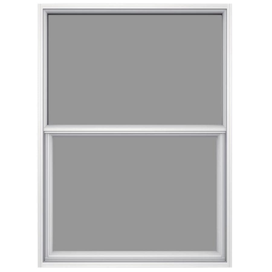 JELD-WEN 6100 Aluminum Single Pane Impact Replacement Single Hung Window (Rough Opening: 36.5-in x 49.875-in; Actual: 36-in x 49.625-in)