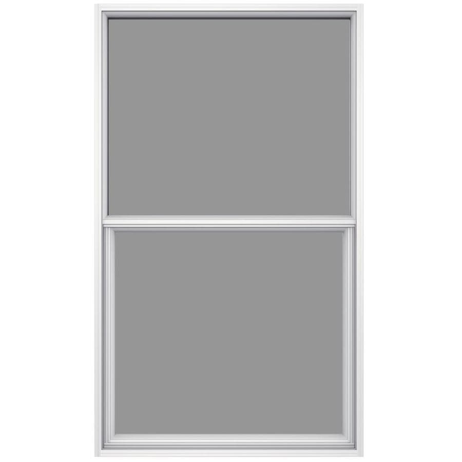 Single Hung Window Glass Repair : Shop jeld wen aluminum white egress replacement