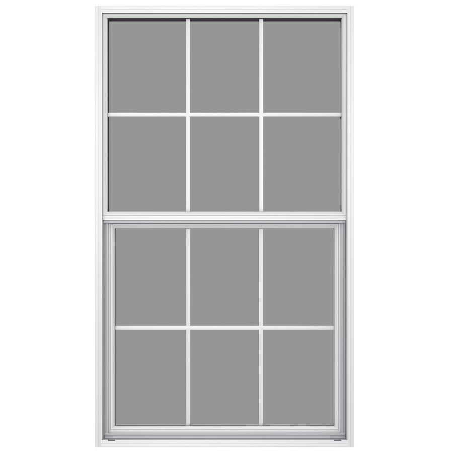 JELD-WEN 6100 Aluminum Single Pane Impact Replacement Egress Single Hung Window (Rough Opening: 36.5-in x 62.25-in; Actual: 36-in x 62-in)