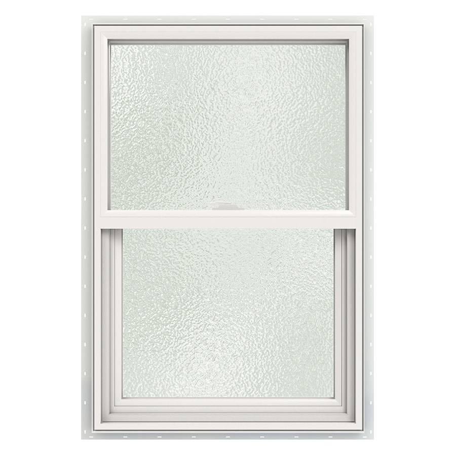JELD-WEN V2500 Vinyl Double Pane Double Strength Single Hung Window (Rough Opening: 24-in x 36-in; Actual: 23.5-in x 35.5-in)