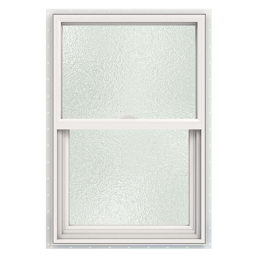 Single Pane Single Hung Window : Shop jeld wen v vinyl white new construction single