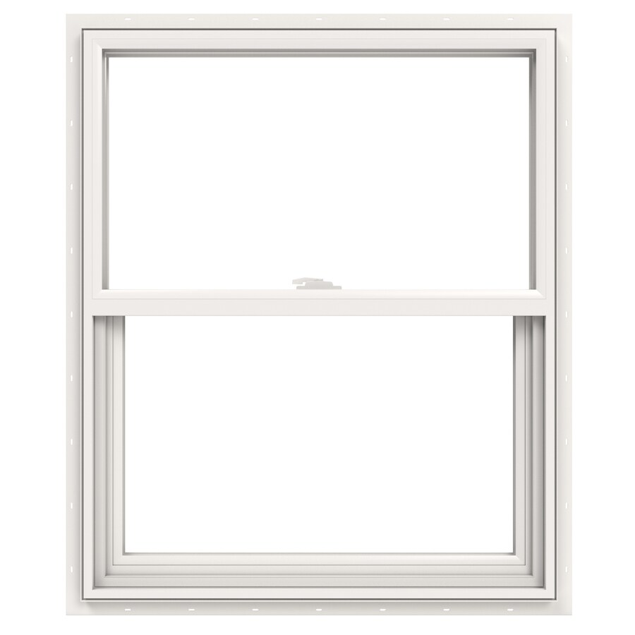 JELD-WEN V2500 Vinyl Double Pane Double Strength Single Hung Window (Rough Opening: 30-in x 36-in; Actual: 29.5-in x 35.5-in)