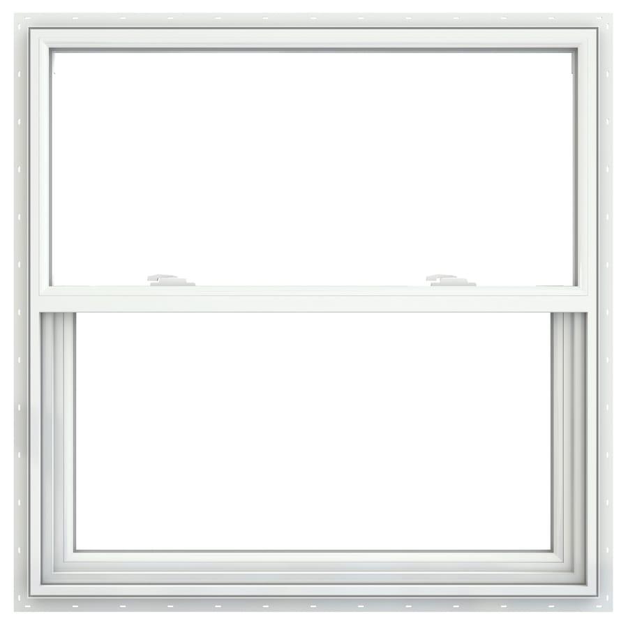 JELD-WEN V2500 Vinyl Double Pane Double Strength Single Hung Window (Rough Opening: 36-in x 36-in; Actual: 35.5-in x 35.5-in)