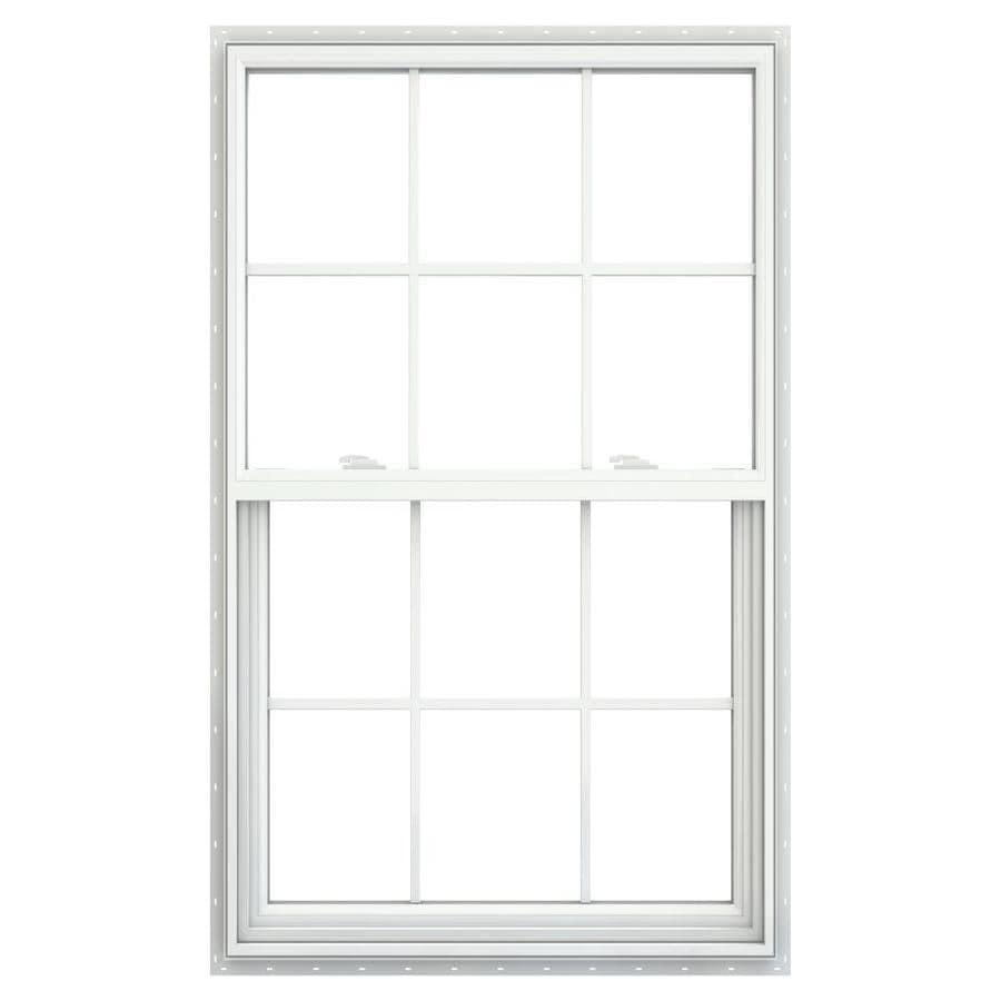 Single Egress Windows : Shop jeld wen v vinyl white egress new construction