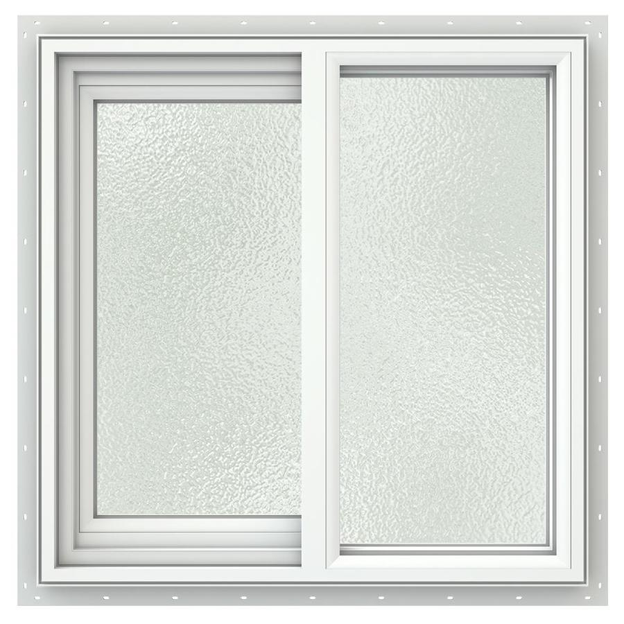 JELD-WEN V2500 Left-Operable Vinyl Double Pane Double Strength Sliding Window (Rough Opening: 24-in x 24-in; Actual: 23.5-in x 23.5-in)