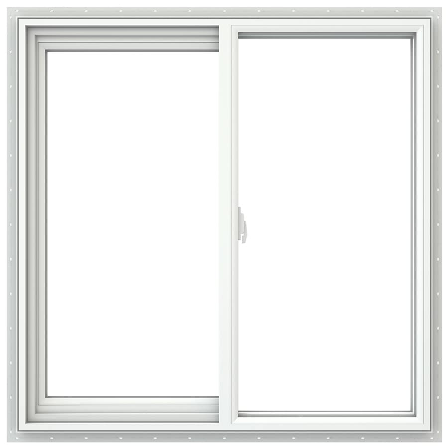 JELD-WEN V2500 Left-Operable Vinyl Double Pane Double Strength Sliding Window (Rough Opening: 36-in x 36-in; Actual: 35.5-in x 35.5-in)