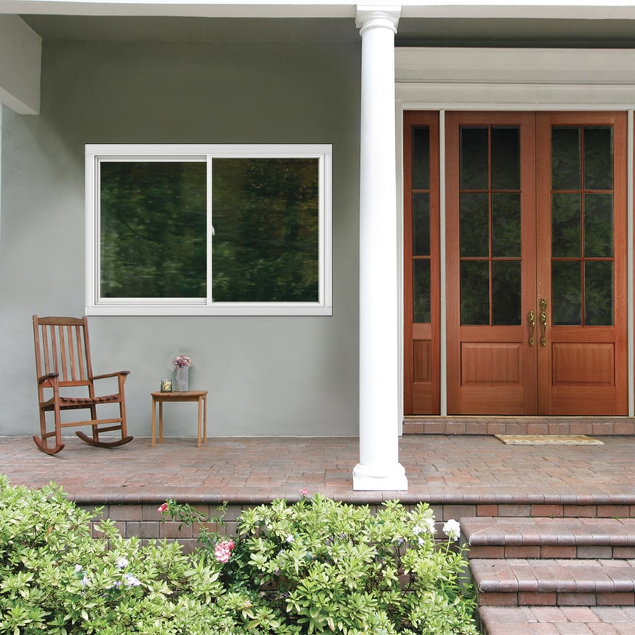 JELD-WEN V2500 Left-Operable Vinyl Double Pane Double Strength Egress Sliding Window (Rough Opening: 72-in x 48-in; Actual: 71.5-in x 47.5-in)