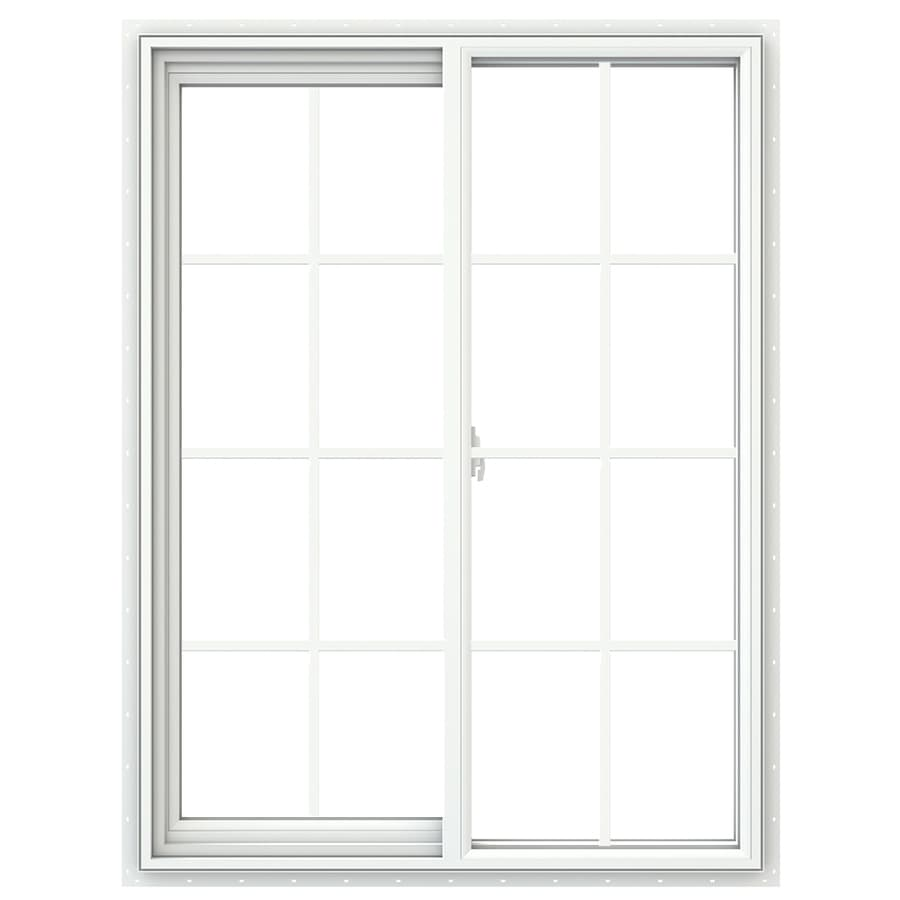 JELD-WEN V2500 Left-Operable Vinyl Double Pane Double Strength Sliding Window (Rough Opening: 36-in x 48-in; Actual: 35.5-in x 47.5-in)