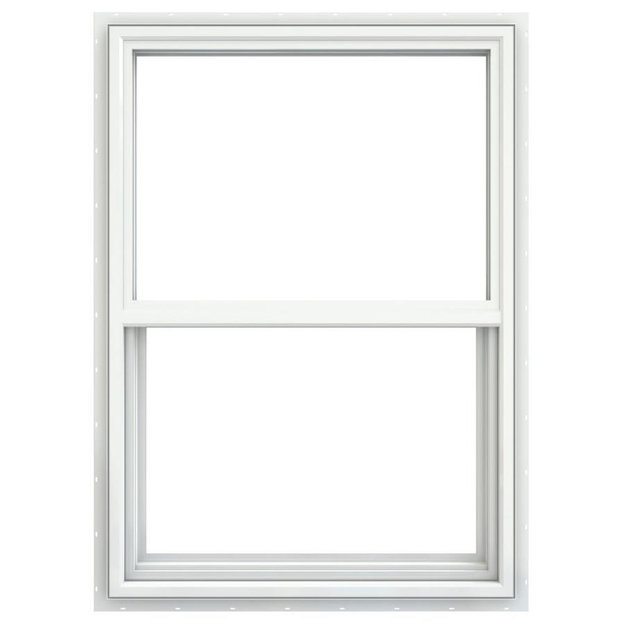 JELD-WEN V4500 Vinyl Double Pane Double Strength Single Hung Window (Rough Opening: 24-in x 36-in; Actual: 23.5-in x 35.5-in)