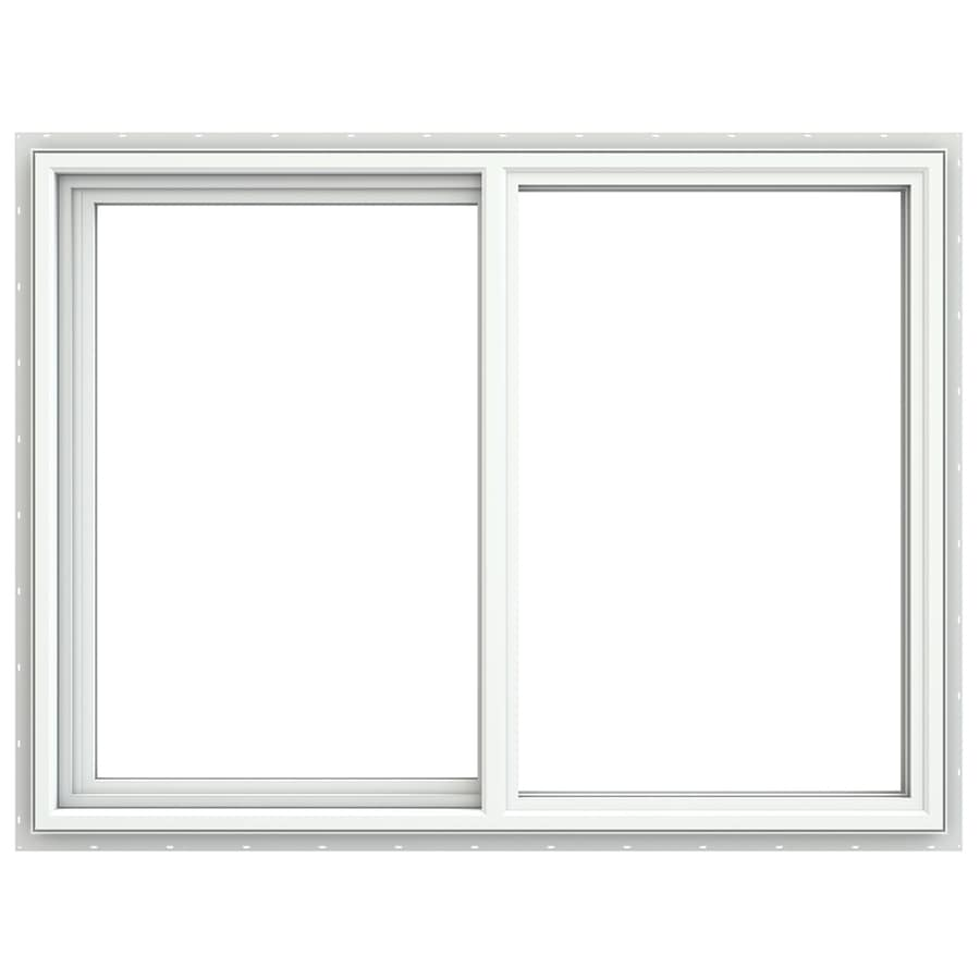 JELD-WEN V4500 Left-Operable Vinyl Double Pane Double Strength Sliding Window (Rough Opening: 48-in x 36-in; Actual: 47.5-in x 35.5-in)