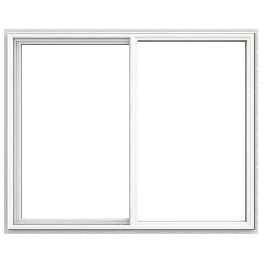 JELD-WEN V4500 Left-Operable Vinyl Double Pane Double Strength Egress Sliding Window (Rough Opening: 60-in x 48-in; Actual: 59.5-in x 47.5-in)