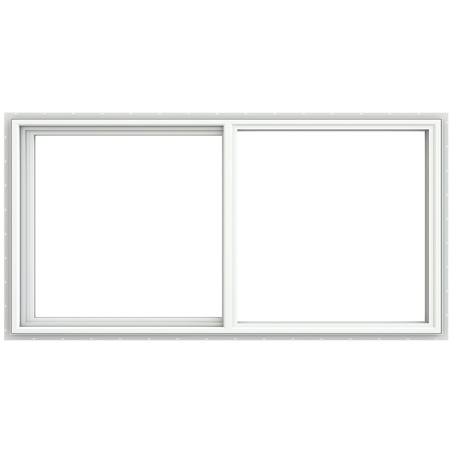 JELD-WEN V4500 Left-Operable Vinyl Double Pane Double Strength Sliding Window (Rough Opening: 72-in x 36-in; Actual: 71.5-in x 35.5-in)
