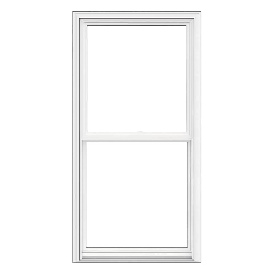 JELD-WEN V2500 Vinyl Double Pane Double Strength Replacement Double Hung Window (Rough Opening: 28-in x 54-in; Actual: 27.5-in x 53.5-in)