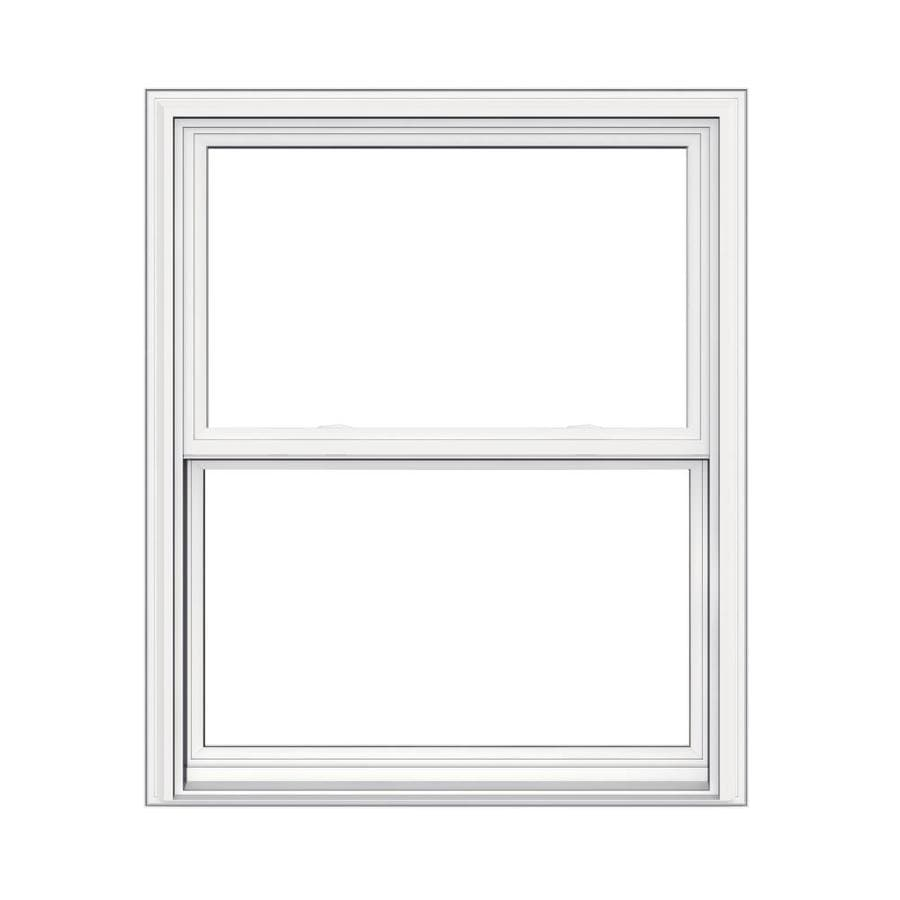 JELD-WEN V2500 Vinyl Double Pane Double Strength Replacement Double Hung Window (Rough Opening: 32-in x 38-in; Actual: 31.5-in x 37.5-in)
