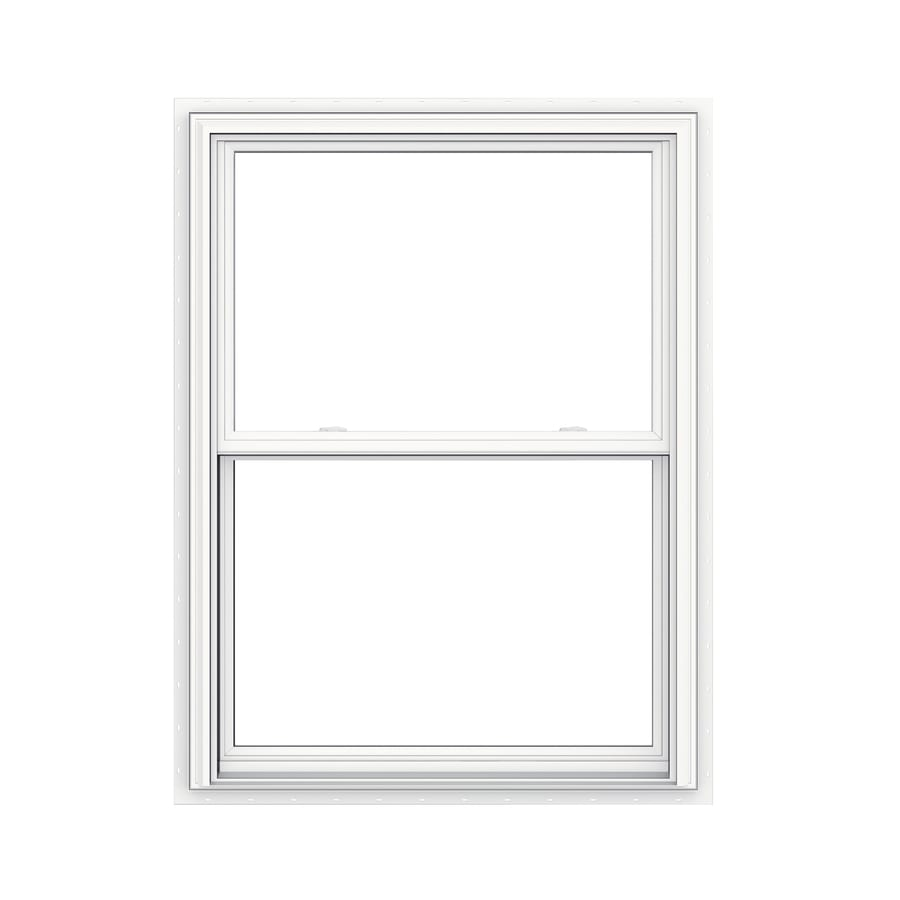 JELD-WEN V2500 Vinyl Double Pane Double Strength Double Hung Window (Rough Opening: 36-in x 48-in; Actual: 35.5-in x 47.5-in)