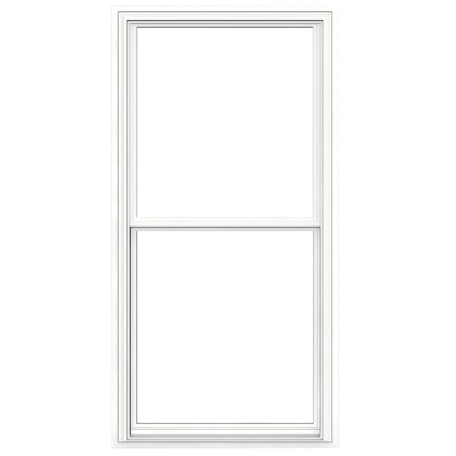 JELD-WEN V-2500 Vinyl Double Pane Double Strength New Construction Egress Double Hung Window (Rough Opening: 36-in x 72-in; Actual: 35.5-in x 71.5-in)
