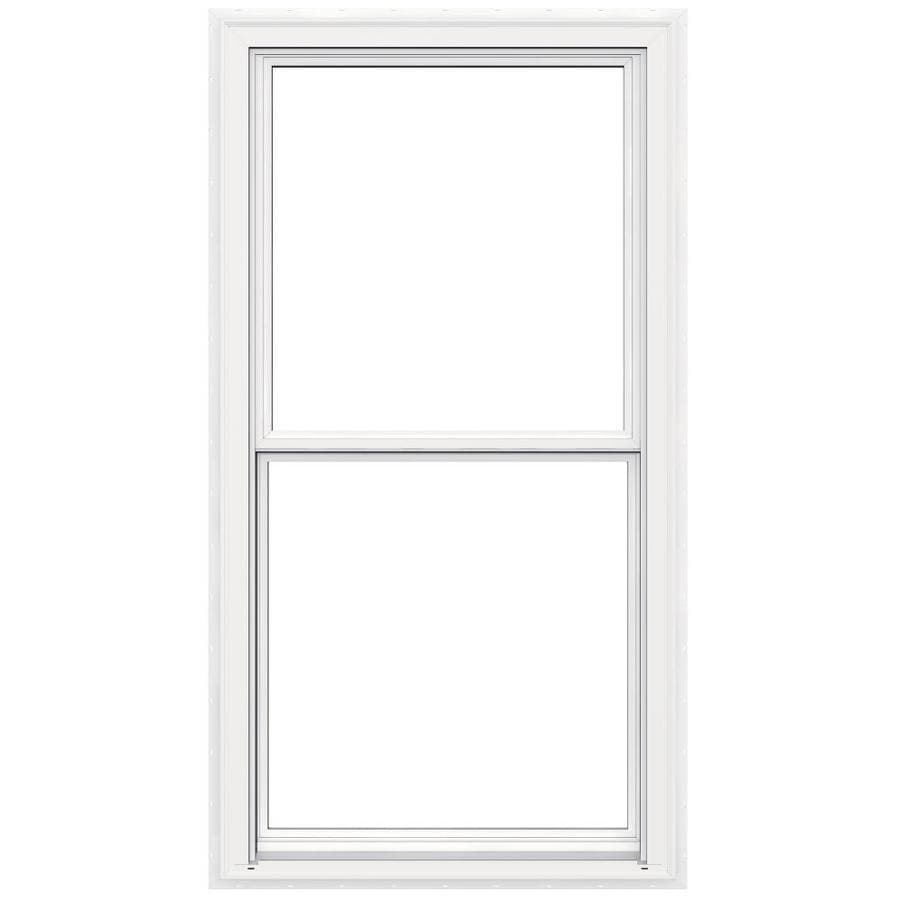 JELD-WEN V2500 Vinyl Double Pane Double Strength Egress Double Hung Window (Rough Opening: 34-in x 65-in; Actual: 33.5-in x 64.5-in)