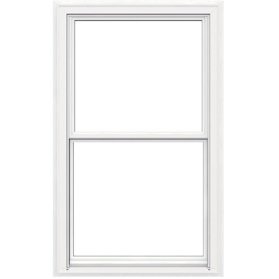 JELD-WEN V2500 Vinyl Double Pane Double Strength Egress Double Hung Window (Rough Opening: 36-in x 60-in; Actual: 35.5-in x 59.5-in)
