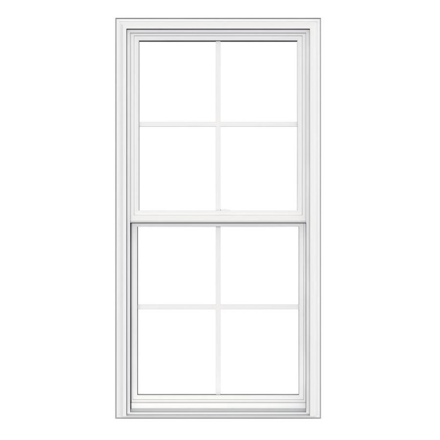 Shop jeld wen v 2500 vinyl double pane double strength for Picture window replacement