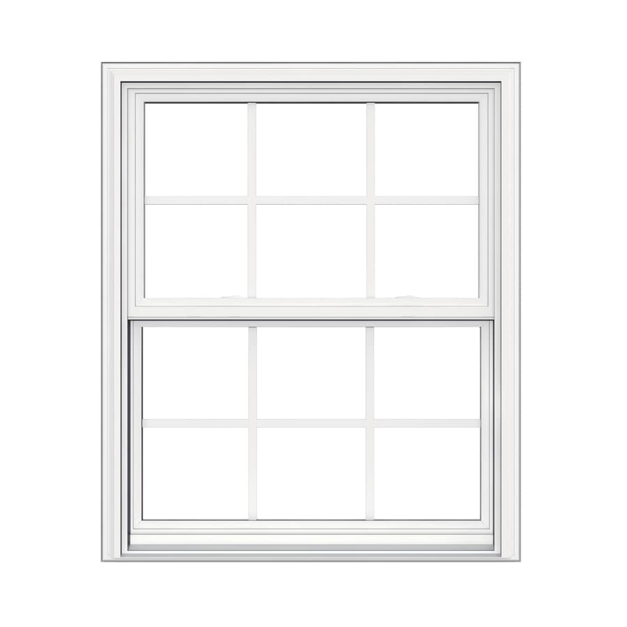 JELD-WEN V-2500 Vinyl Double Pane Double Strength Replacement Double Hung Window (Rough Opening: 32-in x 38-in; Actual: 31.5-in x 37.5-in)